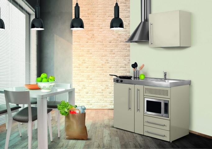 Miniküche Mit Kühlschrank Und Mikrowelle : Miniküche mpm weiß