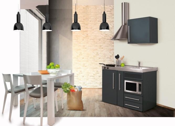 Miniküche Mit Kühlschrank Und Mikrowelle : MinikÜche rom singlekÜche mit unterbau kühlschrank und mikrowelle